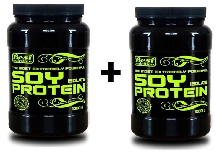 BEST NUTRITION Soy Protein Isolate 1000 g + 1000 g čokoláda 1000g   1000g