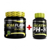 BIOTECH BCAA Flash 540 g + Creatine pH-X 90 kaps