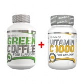 BIOTECH Green Coffee 120 kaps + Vitamin C 1000 30 tbl