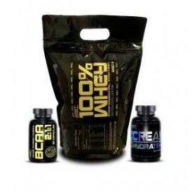 BEST NUTRITION 100% Whey Professional Protein 2250g + BCAA 2:1:1 + Polyhydrate ZADARMO