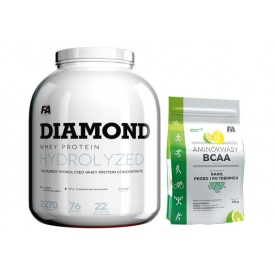 FITNESS AUTHORITY DIAMOND Hydrolysed Whey Protein 2270g + ZADARMO 150g BCAA