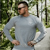 GYM BEAM Mikina Sweat X Grey White